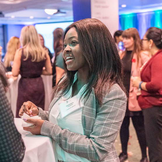 Women meet and greet at the annual Global Women's Alliance end of year event in Toronto.